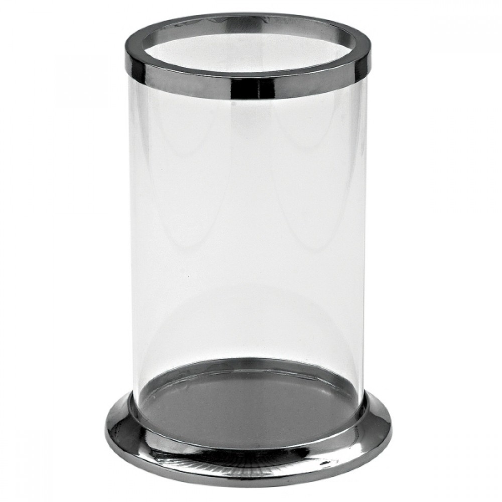Castiçal Vidro e Metal II