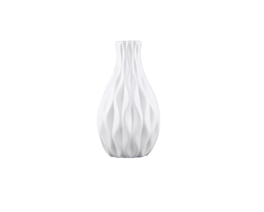 Vaso Cerâmica Branco 12x6CM