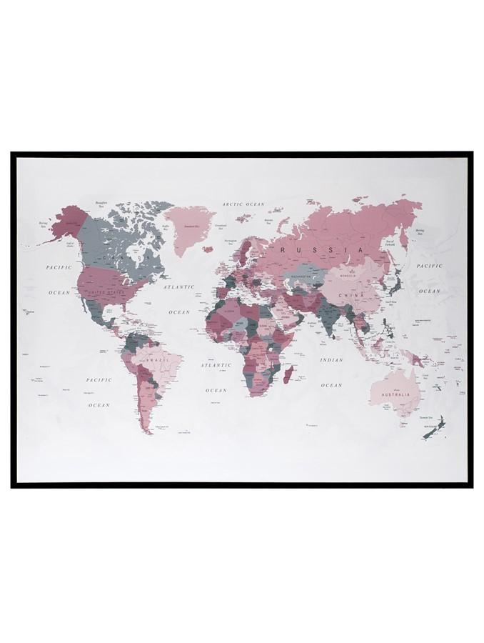 Quadro Mapa Mundi 105x75cm