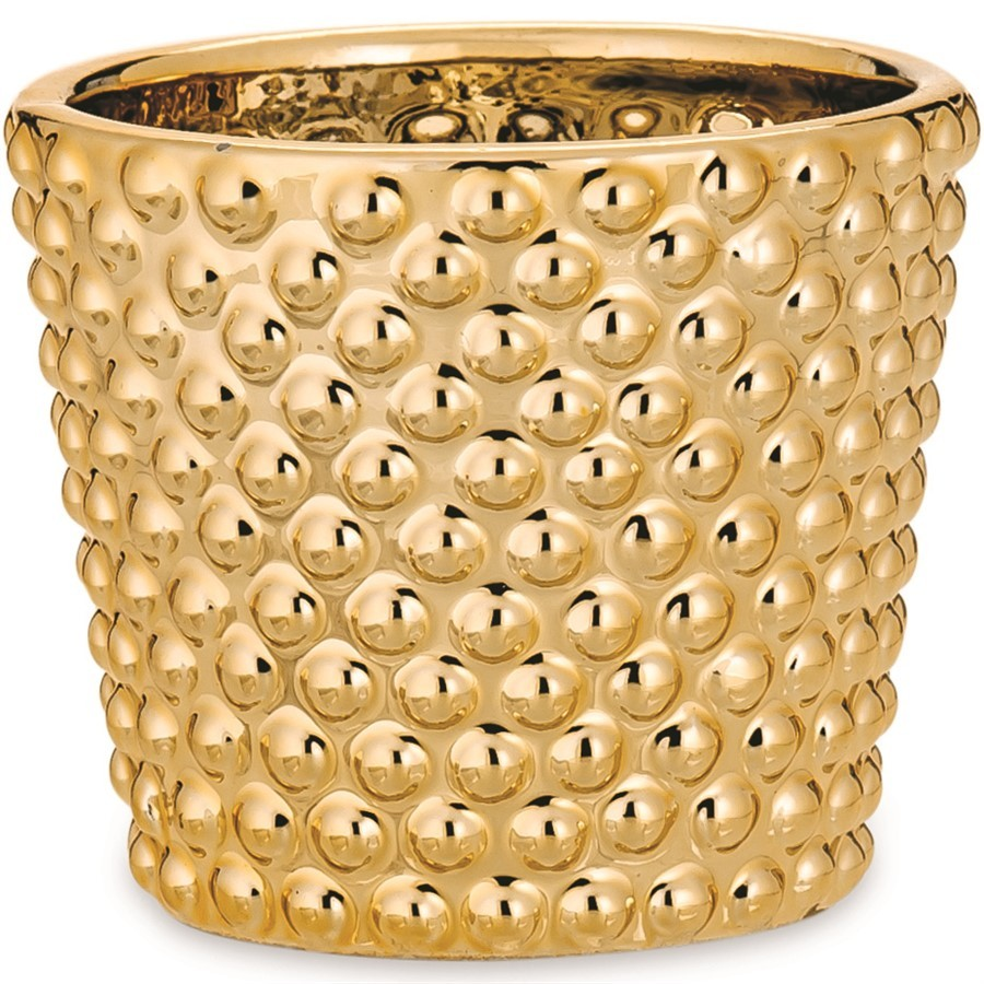 Cachepot Dourado em Cerâmica ll 7x8cm