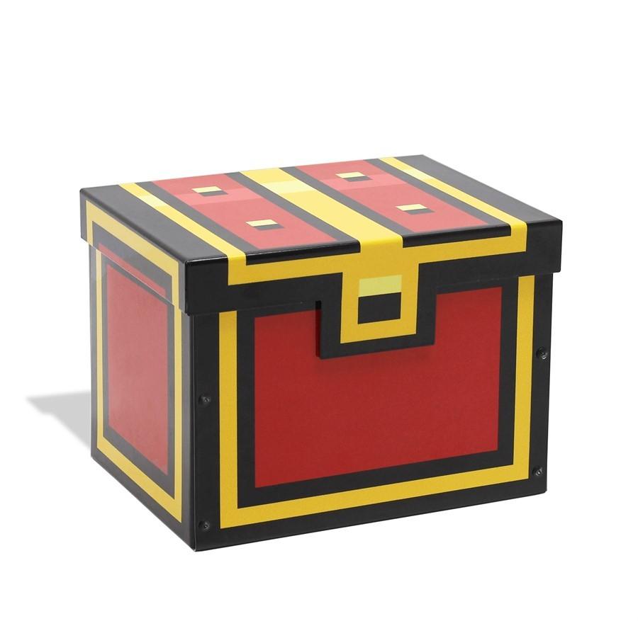 Caixa Baú Pixel Vermelho