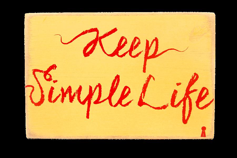 Quadro Bloco Simple Life