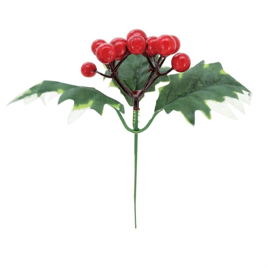 Galho Azevinho Berries