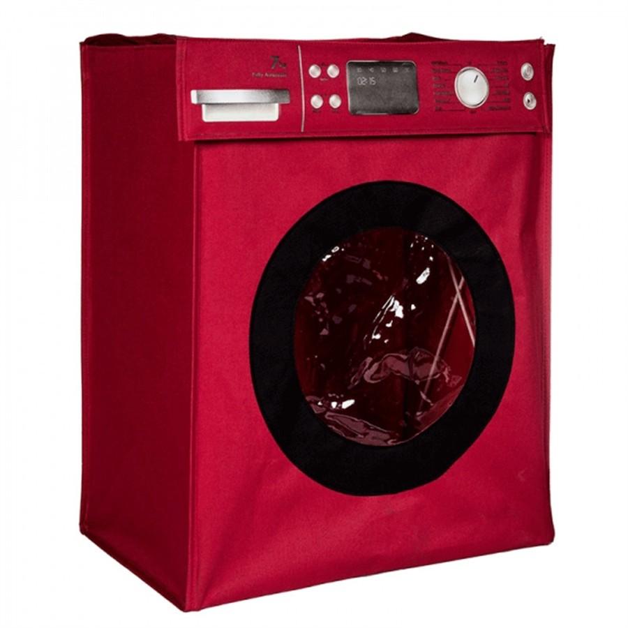 Cesto Para Roupas Máquina de Lavar Vermelho