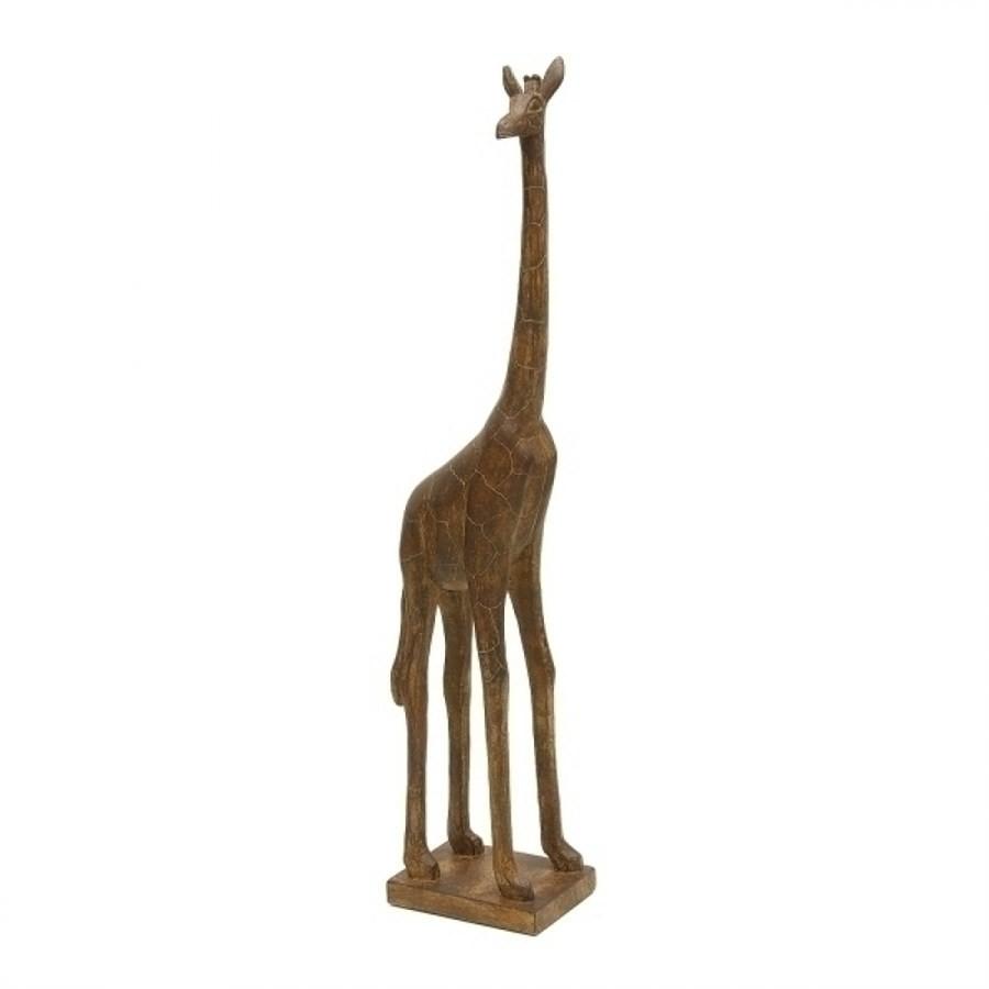 Escultura Girafa Decorativa