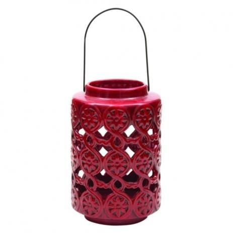 Lanterna Decorativa Cerâmica