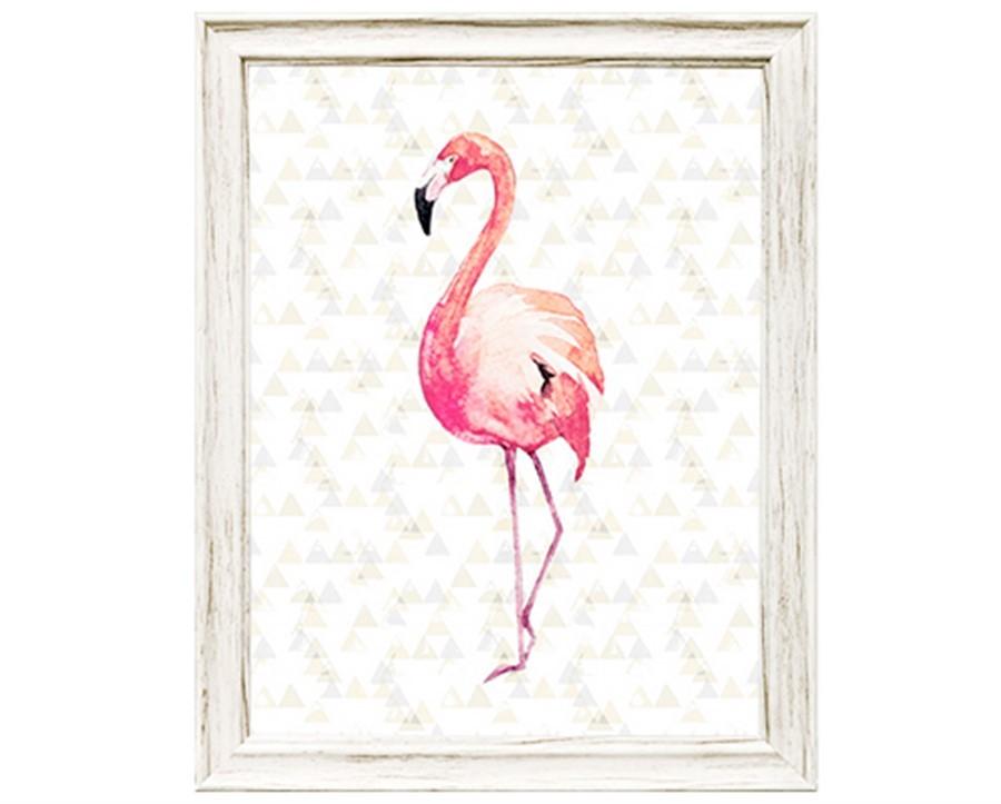 Quadro em Canvas de flamingo