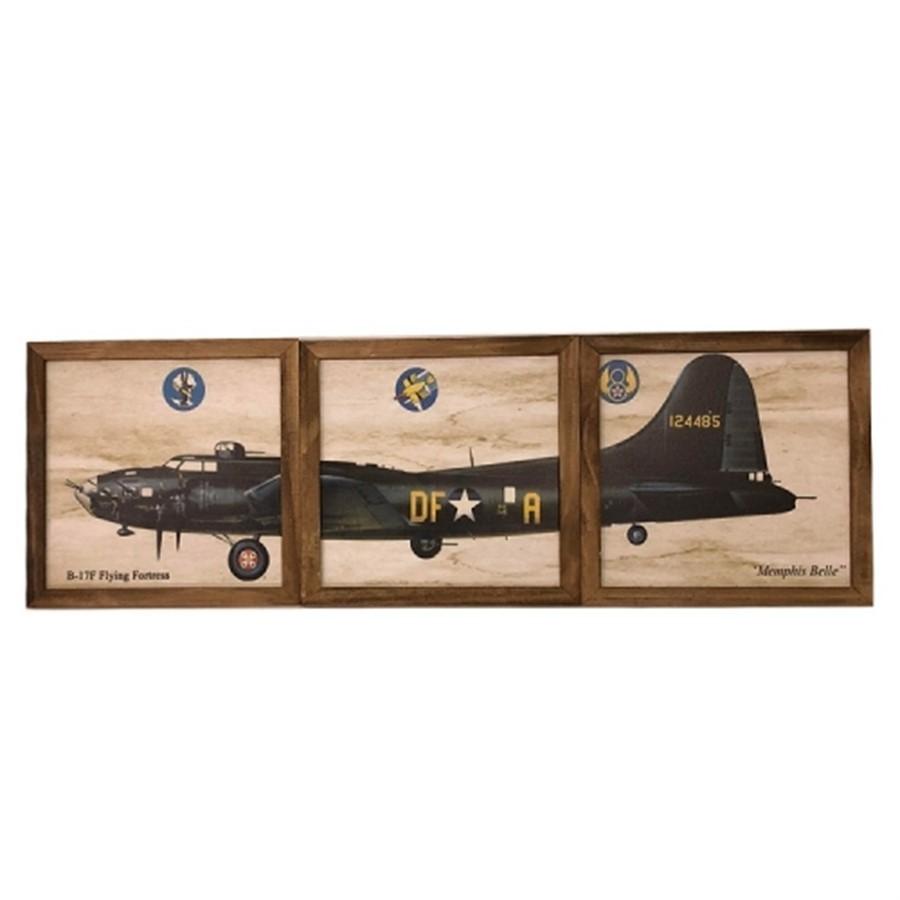 Kit Quadros Avião - 3pçs