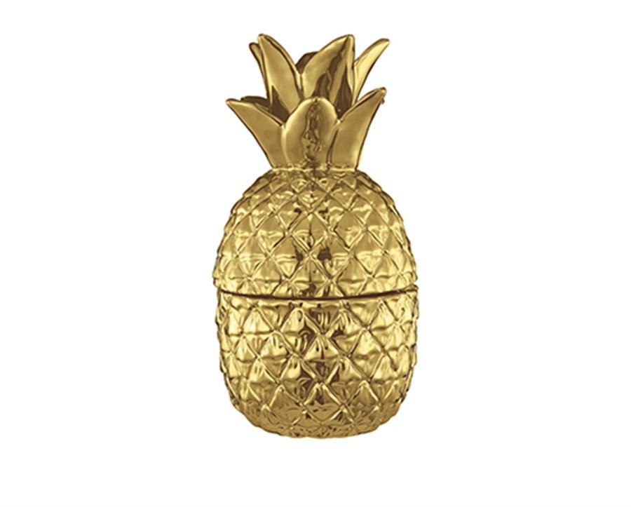 Pote Abacaxi Dourado 28CM