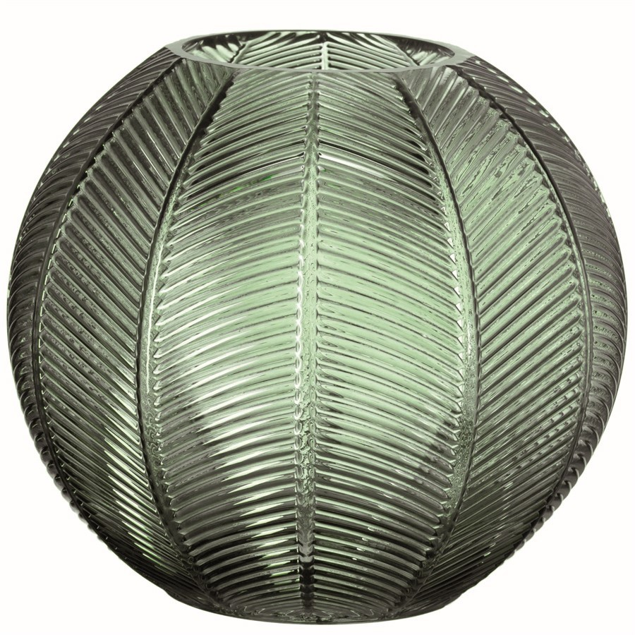 Vaso Vidro Leaf 22x25cm
