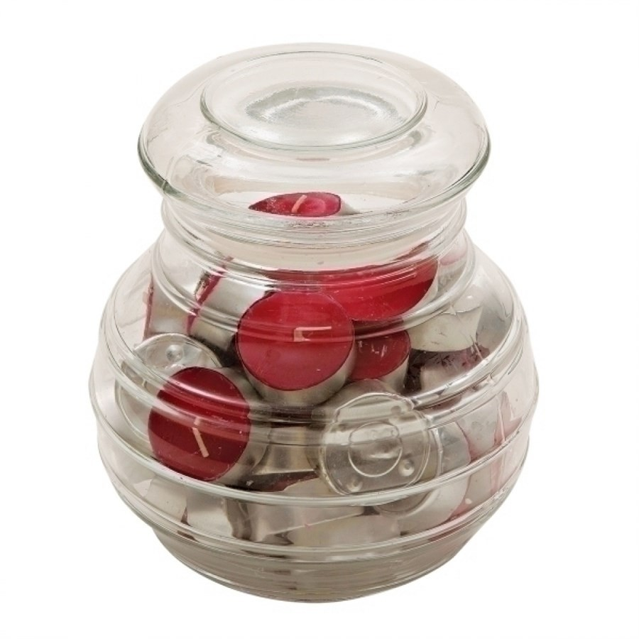 Pote de Vidro com 45 Velas Aromatizadas