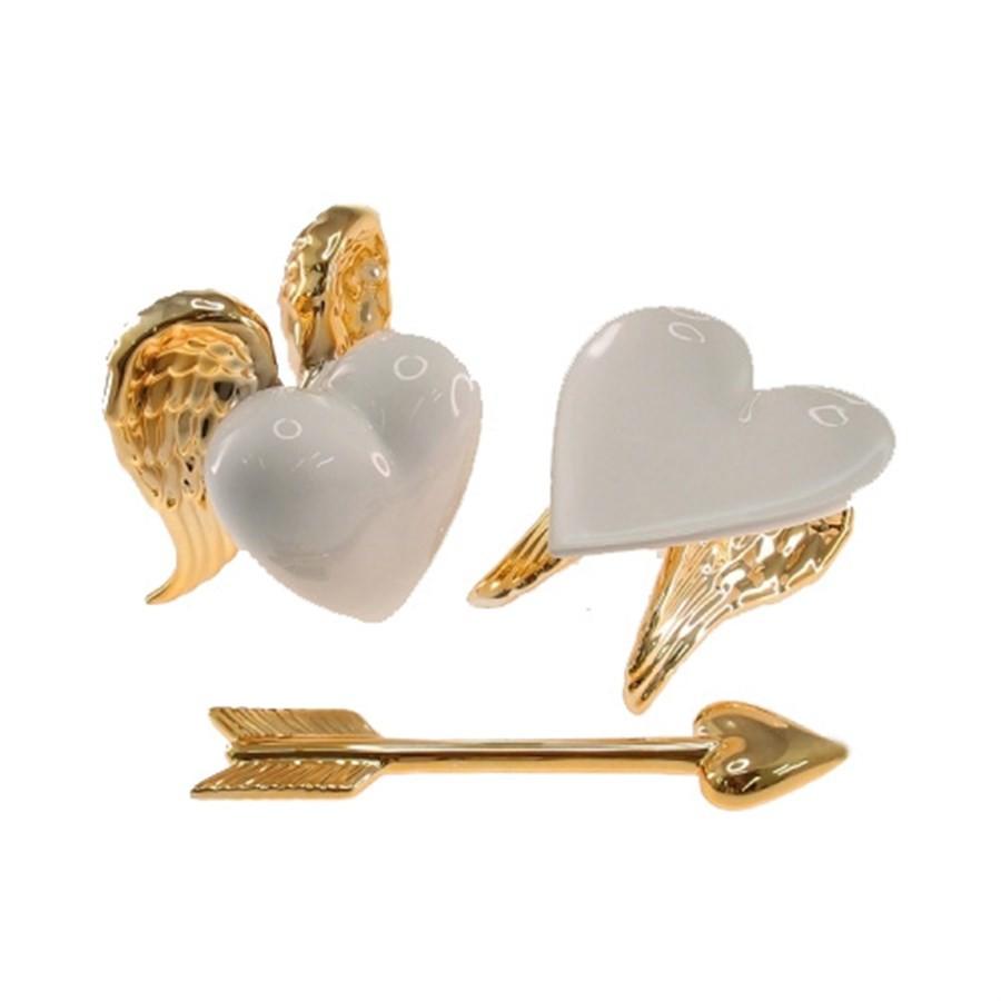 Kit escritorio Coração Dourado