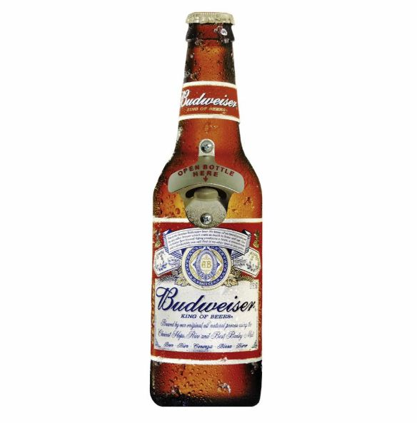 Placa de Parede Abridor de Garrafa Budweiser