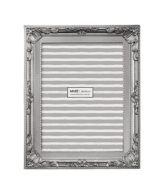 Porta Retrato Retrô Prata 20x25cm