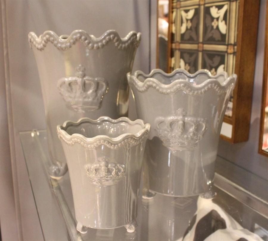 Vaso Cerâmica Coroa