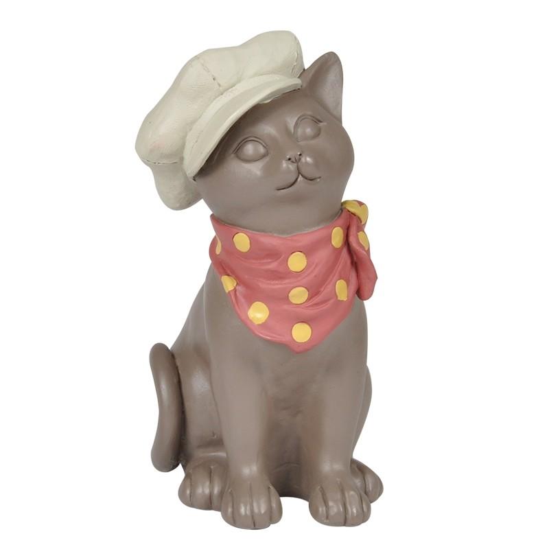 Gato Decorativo Lenço
