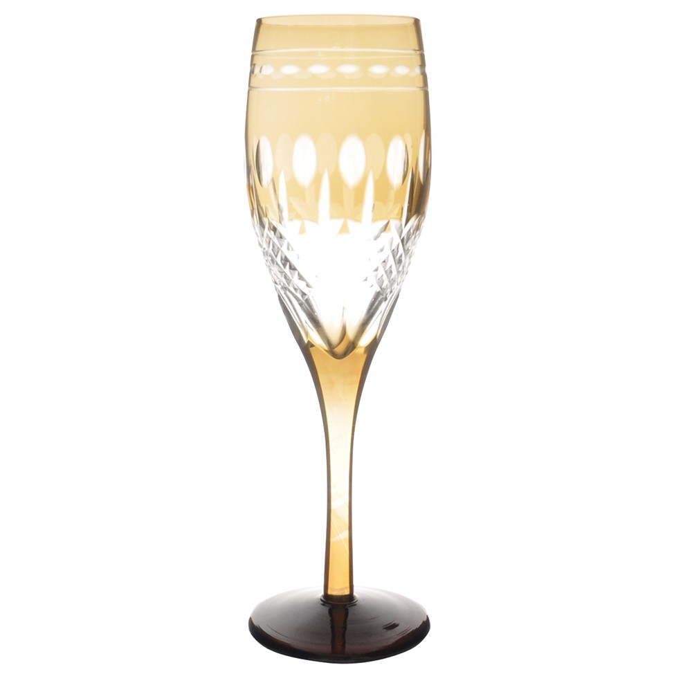 Taça de Cristal Coloridas Para Champagne II-Âmbar
